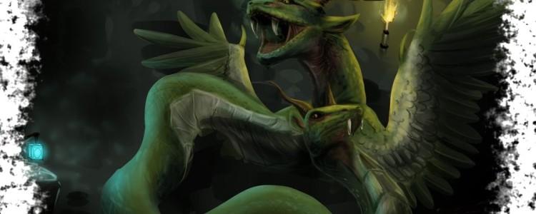 Амфисбена в мифологии — двухголовая змея с Антильских островов