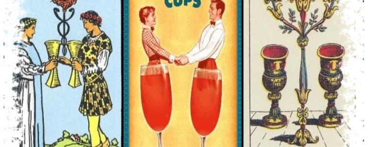 Двойка Кубков Таро — значение карты в любви и отношениях