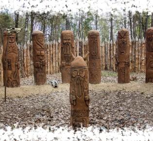 Капища Перуна и его идолы в России и Украине