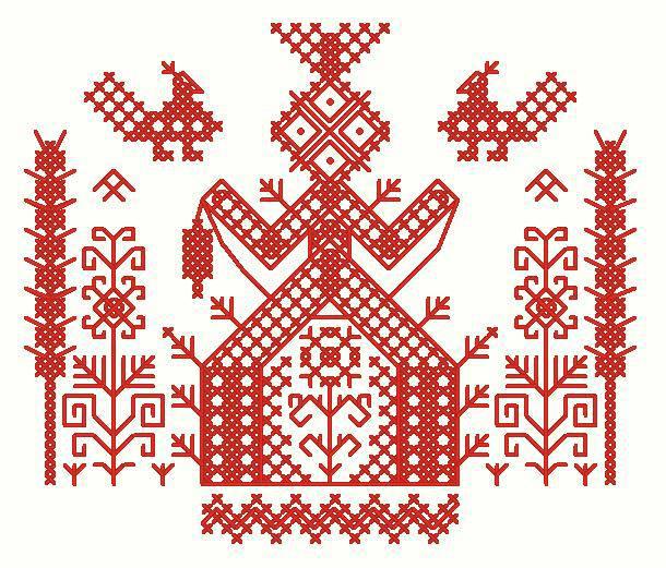 Оберег Макошь — как вышить символ славянской богини
