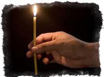 церковная восковая свеча