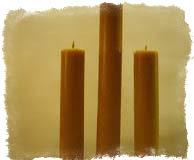 3 восковые свечи