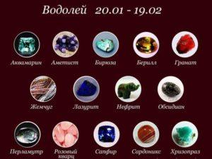 Камни подходящие Водолею женщине и мужчине по гороскопу