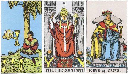 Король Кубков в сочетаниях Таро