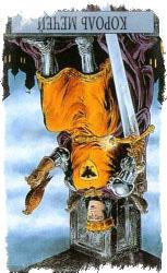 Король Мечей Таро в перевернутом положении