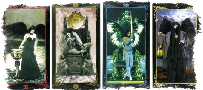 Королева пентаклей в сочетании с другими картами