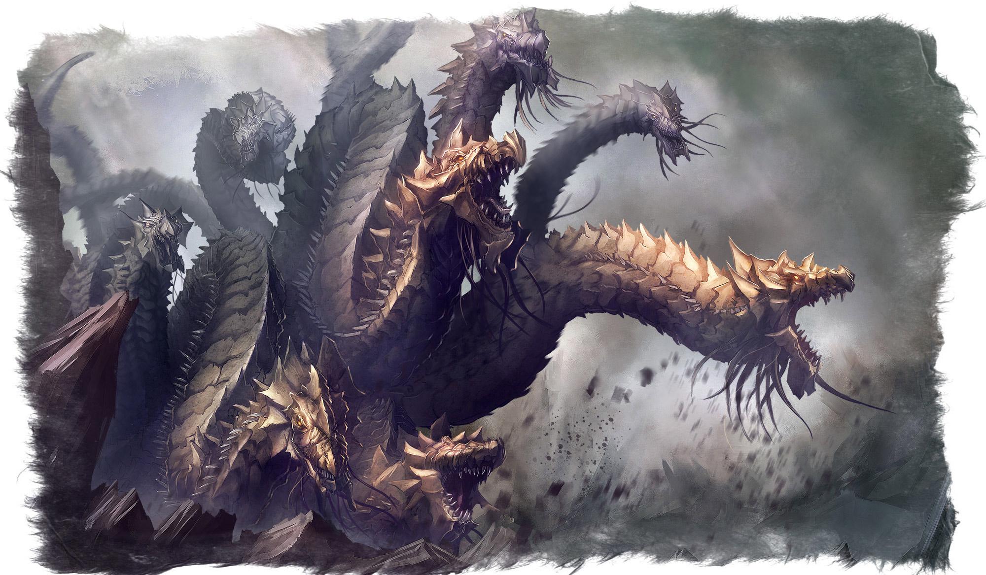 Мифический монстр из Греции —Гидра