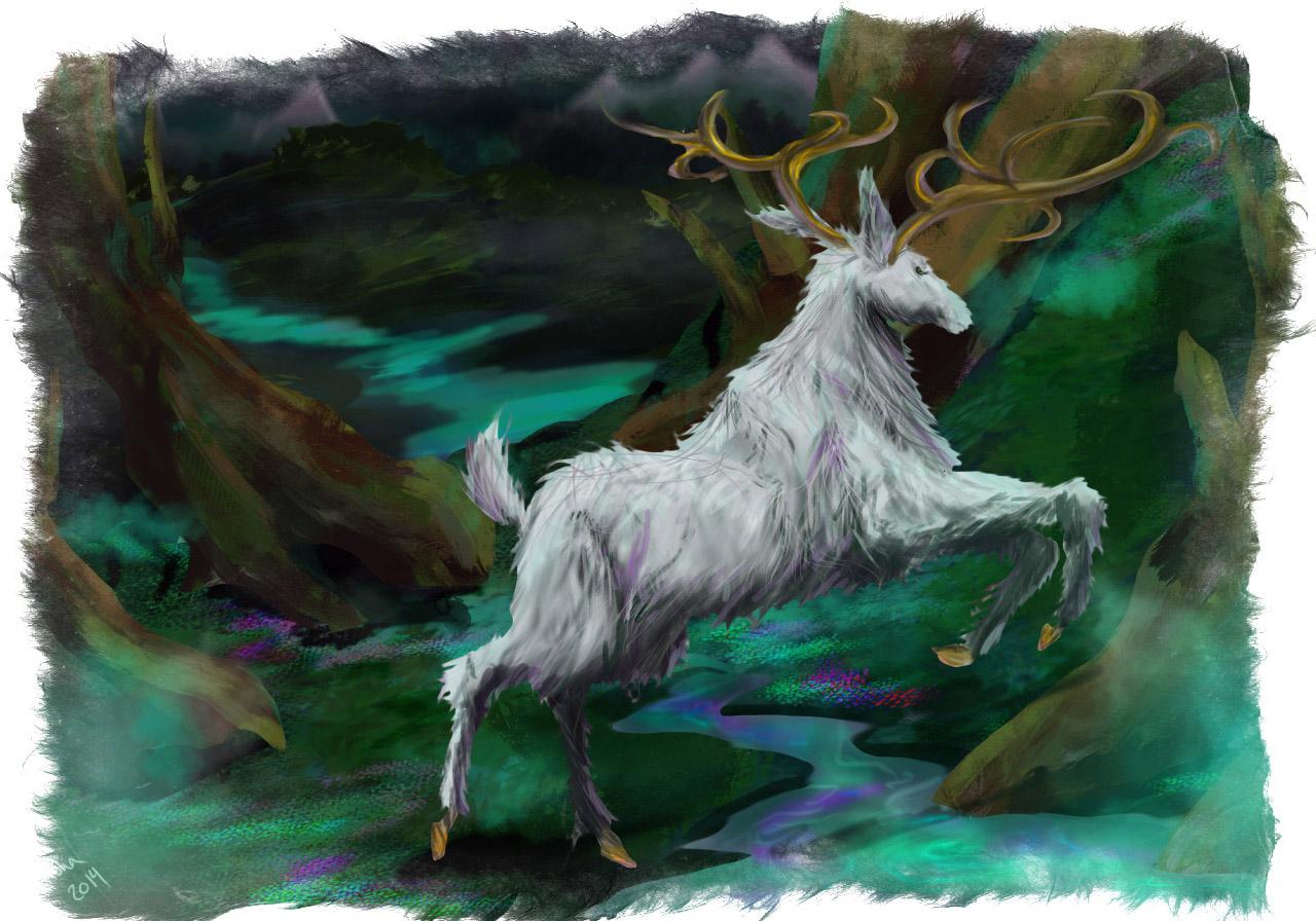 Керинейская лань - животное магического мира