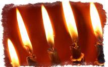пять свечей