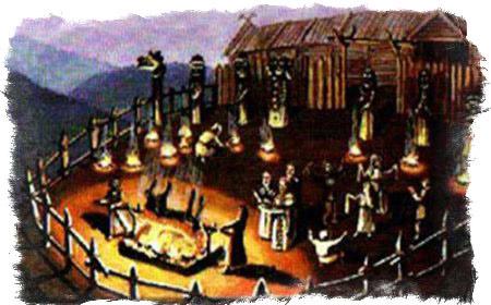 Выборы жертвы богу Перуну на Велесов сноп