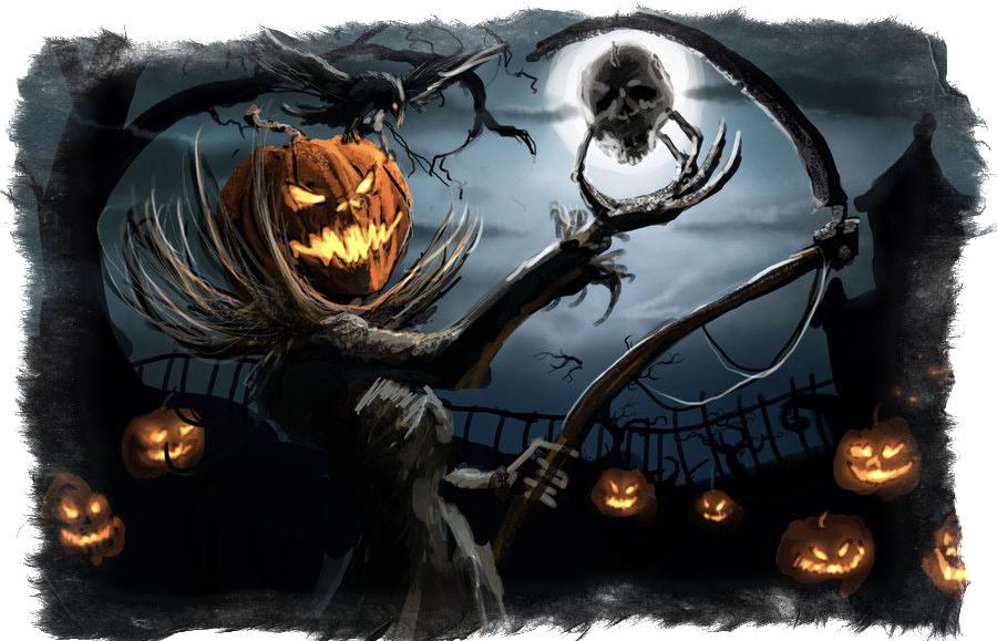 Празднование Хэллоуина — традиционные забавы