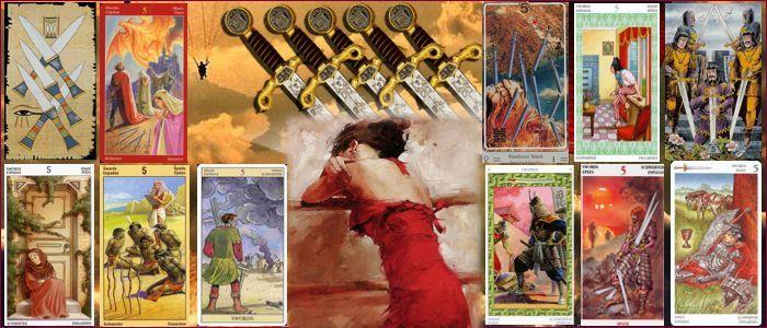 5 мечей таро значение