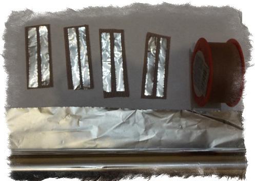 Как сделать серебряный мостик из фольги