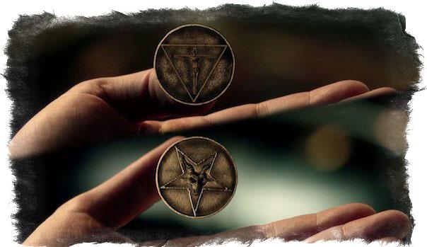 Символы Люцифера - монета Люцифера
