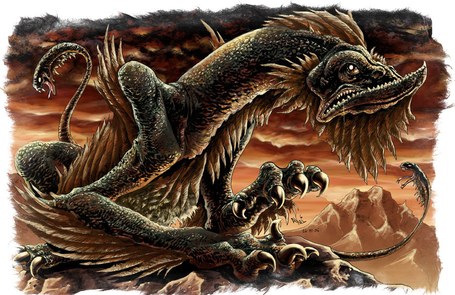 нечисть у славян - Змей Аспид
