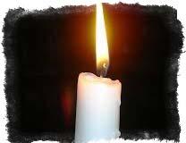 свеча белого цвета