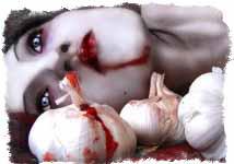 вампир на фоне чеснока