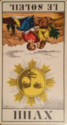 Солнце Таро - Значение в перевернутом положении
