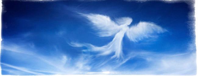 ангел с облаков