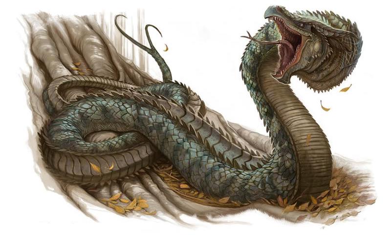 Змей Василиск в Библии